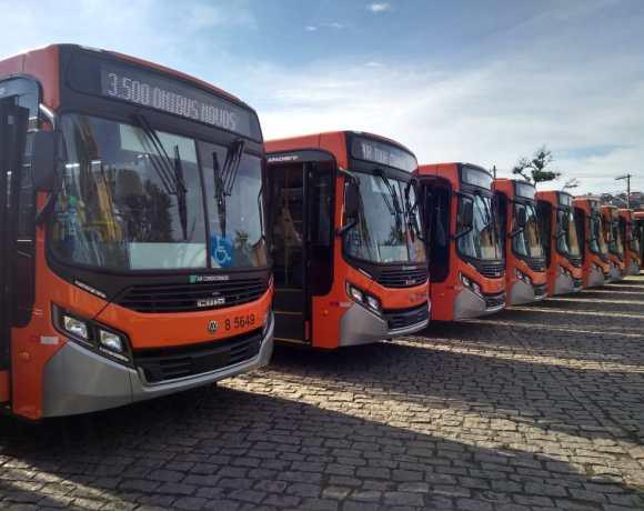 Novos ônibus da Transcap