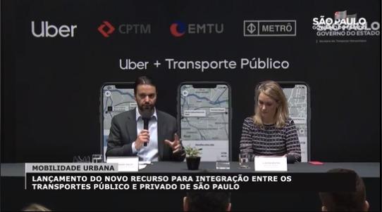 Baldy e diretora da Uber