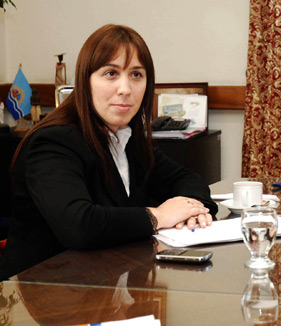 La Ministro María Eugenia Vidal