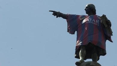 Photo of MONUMENTO A COLÓN ESPAÑOL: NO A LA CAMISETA DEL BARCA