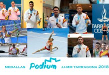 Deportistas Podium Telefonica. Juegos del Mediterraneo
