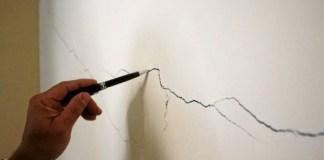 grietas en paredes de viviendas