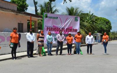 IMM Tamiahua «pinta la diferencia» contra la violencia de género.