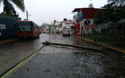 Reportan 3 municipios de Veracruz afectaciones por lluvias