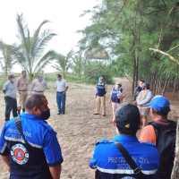La Secretaría de Marina-Armada de México participó en labores de limpieza por derrame de hidrocarburo en inmediaciones de la playa de Tecolutla, Veracruz