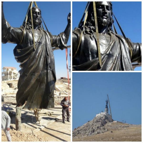 estatua de jesus siria