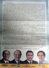 Panfleto distribuído pelo pastor