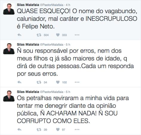 Silas Malafaia responde a Felipe Neto sobre a insinuação de estar ligado a Lava Jato com Cunha