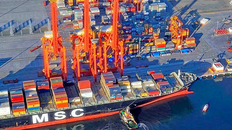 Al mes de mayo el puerto de Manzanillo ya movilizó un millón de TEU´s, 3.8% menos que el mismo periodo del 2019