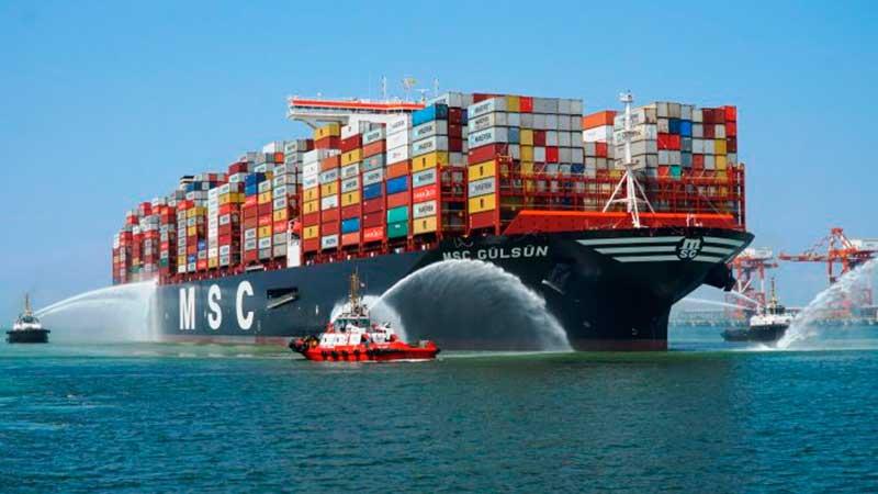 3. MSC Gülsün (2019). TEU máximo: 23.756 (De estas características hay seis barcos).