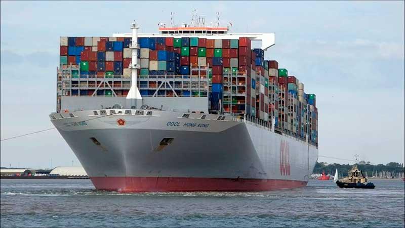 6. OOCL Hong Kong (2017). TEU máximo: 21.413 (De estas características hay seis barcos).
