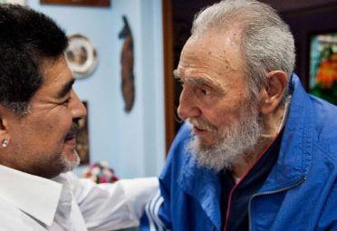 Maradona en su última visita a Fidel.