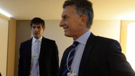 Horacio Reyser Travers y el presidente Mauricio Macri