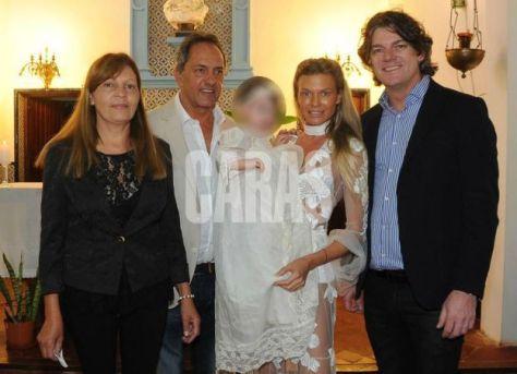 Scioli y Gisela Berger