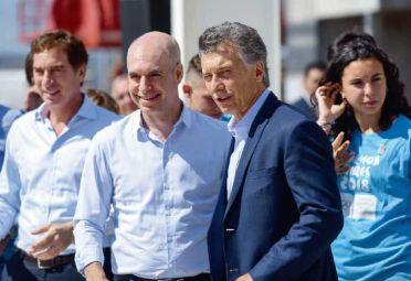 Rodríguez Larreta junto a Macri