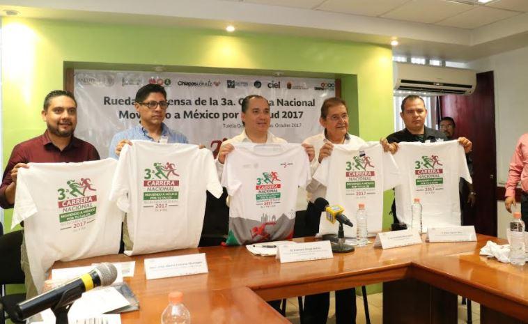 """Chiapas se suma a la 3ra. Carrera Nacional """"Moviendo a México por tu salud"""" 1"""