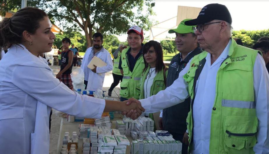 Recorren Secretarios de Salud Federal y Estatal zonas afectadas por el sismo en Paredón 7