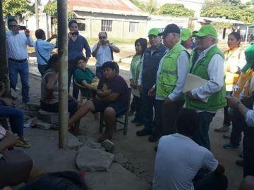 Recorren Secretarios de Salud Federal y Estatal zonas afectadas por el sismo en Paredón 2