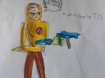 Como súper héroe, así dibuja niño de 9 años a López-Gatell 10