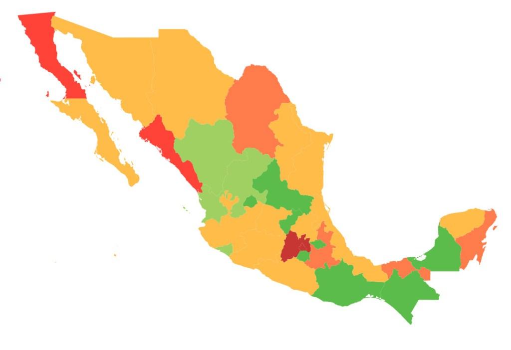 #COVID19 en México, casos activos, positivos, negativos, sospechosos y defunciones por estado al 21 de abril 2020 2
