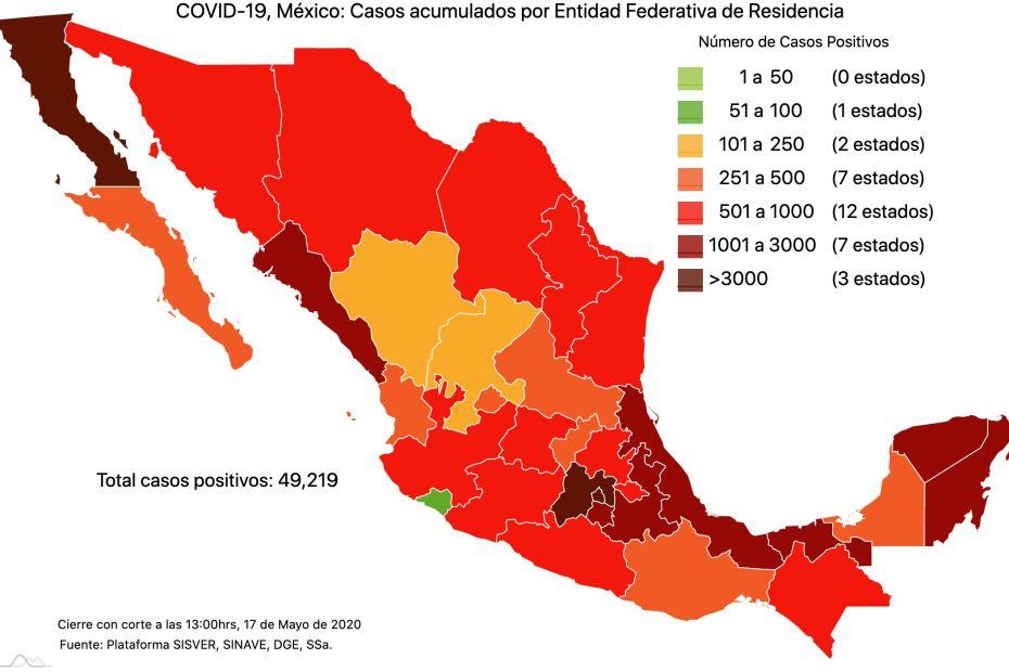 #COVID19 en México 17 de mayo 2020, casos defunciones y tasa de incidencia nacional y por estado 1