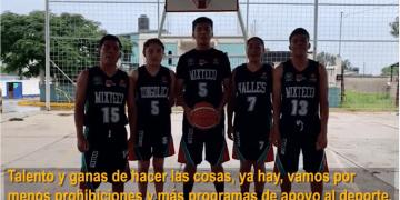 """""""Vamos por menos prohibiciones y más programas de apoyo al deporte"""": niños Trikis a López-Gatell 8"""