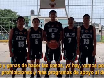 """""""Vamos por menos prohibiciones y más programas de apoyo al deporte"""": niños Trikis a López-Gatell 2"""
