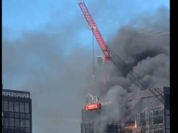 Reportan incendio en torre del WTC de Bruselas 1