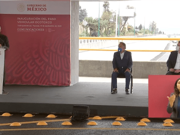 """""""Me da mucho gusto estar aquí de nuevo en Tlaxcala, no es retórica mucho menos demagogia"""": AMLO en la inauguración del paso vehicular Ocotoxco, Yauhquemecan 6"""