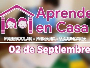 2 de septiembre aprende en casa