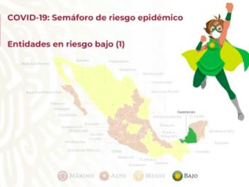 Campeche, primer estado en pasar a semáforo epidemiológico verde 3
