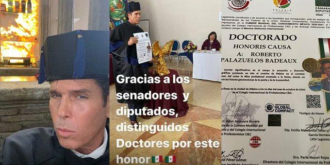Por «aportes a la actuación», Roberto Palazuelos recibe Doctorado Honoris Causa