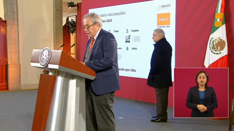 Jorge Alcocer, secretario de Salud presenta proceso de vacunación contra Covid-19 1