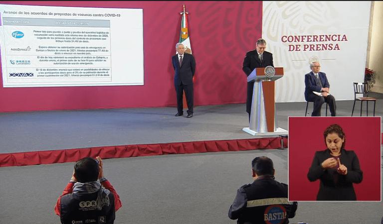 Presenta Marcelo Ebrard avance de vacunas contra Covid-19