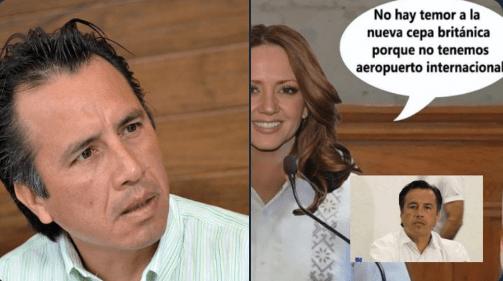 """""""Nosotros no tenemos ningún aeropuerto que reciba pasaje de Inglaterra"""", gobernador de Veracruz. Lo comparan con Andrea Legarreta"""