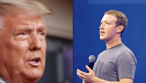 """Anuncia Mark Zuckerberg la suspensión """"indefinida"""" de las cuentas de Facebook e Instagram del aún presidente de EU, Donald Trump"""