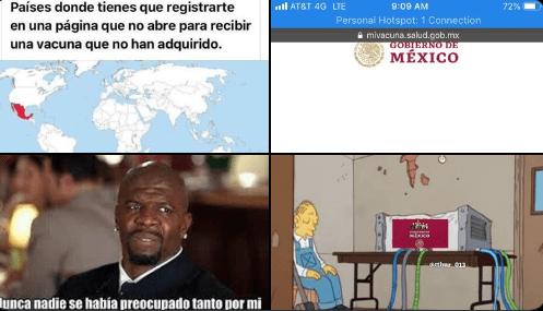 Entre quejas y memes, así denuncian usuarios de las redes sociales las fallas en el sitio web 'Mi Vacuna' 1