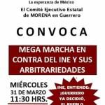"""Morena y Salgado Macedonio convocan a mega marcha en contra del INE y sus """"arbitrariedades"""" 4"""