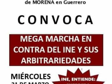 """Morena y Salgado Macedonio convocan a mega marcha en contra del INE y sus """"arbitrariedades"""" 9"""