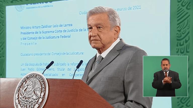 Tras suspensión de reforma eléctrica, AMLO envía carta al presidente de SCJN 1
