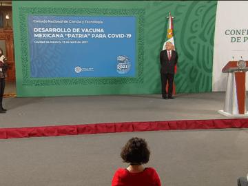 """""""Patria"""", la vacuna mexicana contra Covid-19 iniciará pruebas en humanos: Conacyt 9"""
