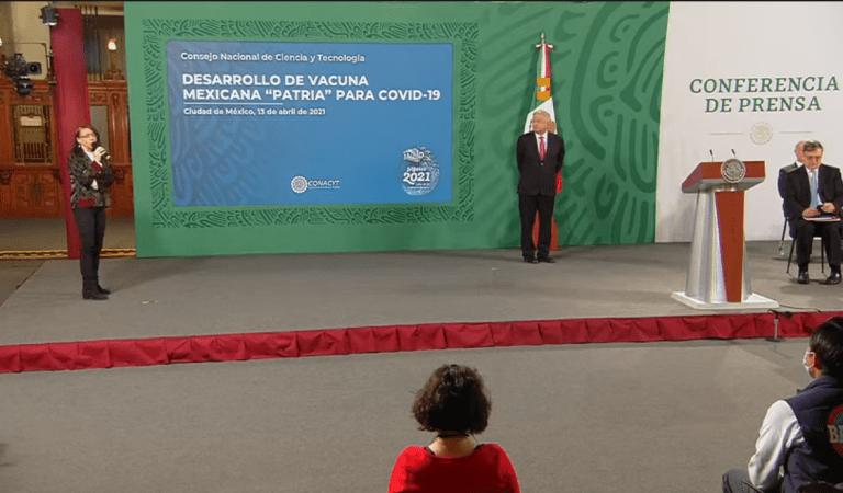 """""""Patria"""", la vacuna mexicana contra Covid-19 iniciará pruebas en humanos: Conacyt"""