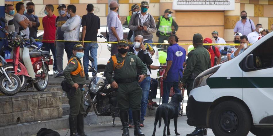 14 heridos deja atentado con granada en el centro de Barranquilla