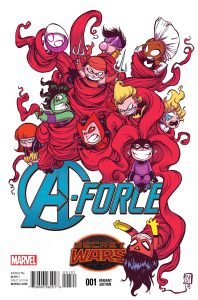 Capa alternativa de A-Force #1 por Scottie Young
