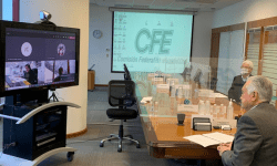 Foto cortesía Manuel Bartlett Videoconferencia CFE