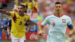 Radamel Falcao y Robert Lewandowski