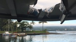choque de volcan en barco