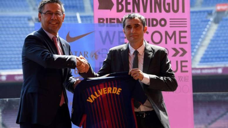 presidente del barcelona y valverde