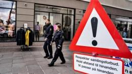 Policías alemanes realizan patrullaje