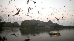 Lago en Birmania